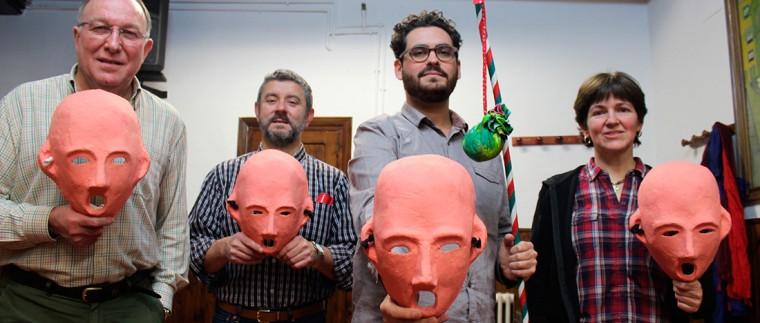 Las máscaras de Zipotero, uno de los elementos diferenciales del Carnaval Tudelano.